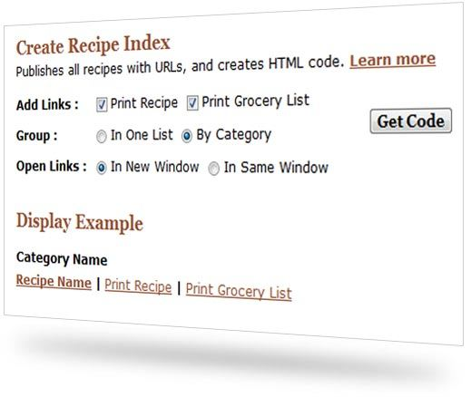 say mmm recipe index for blogs and websites